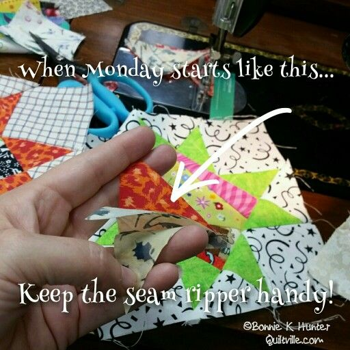 Happy Monday, everyone! Keep that seam ripper close, and ...