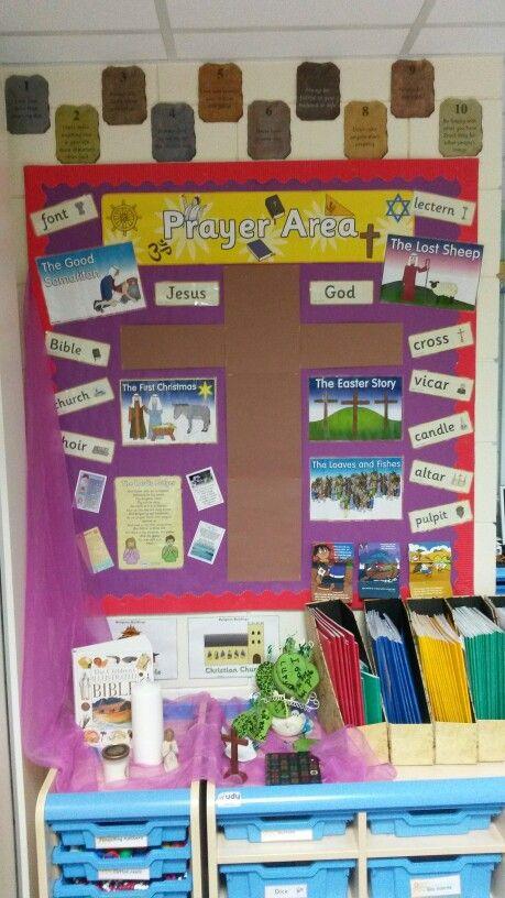 Classroom Worship Ideas ~ Prayer area religion pinterest primary classroom