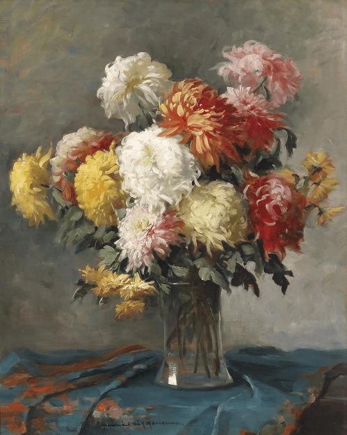 Chrysanthemum Painting Canvases Chrysanthemum Painting Art Painting Oil Flower Painting