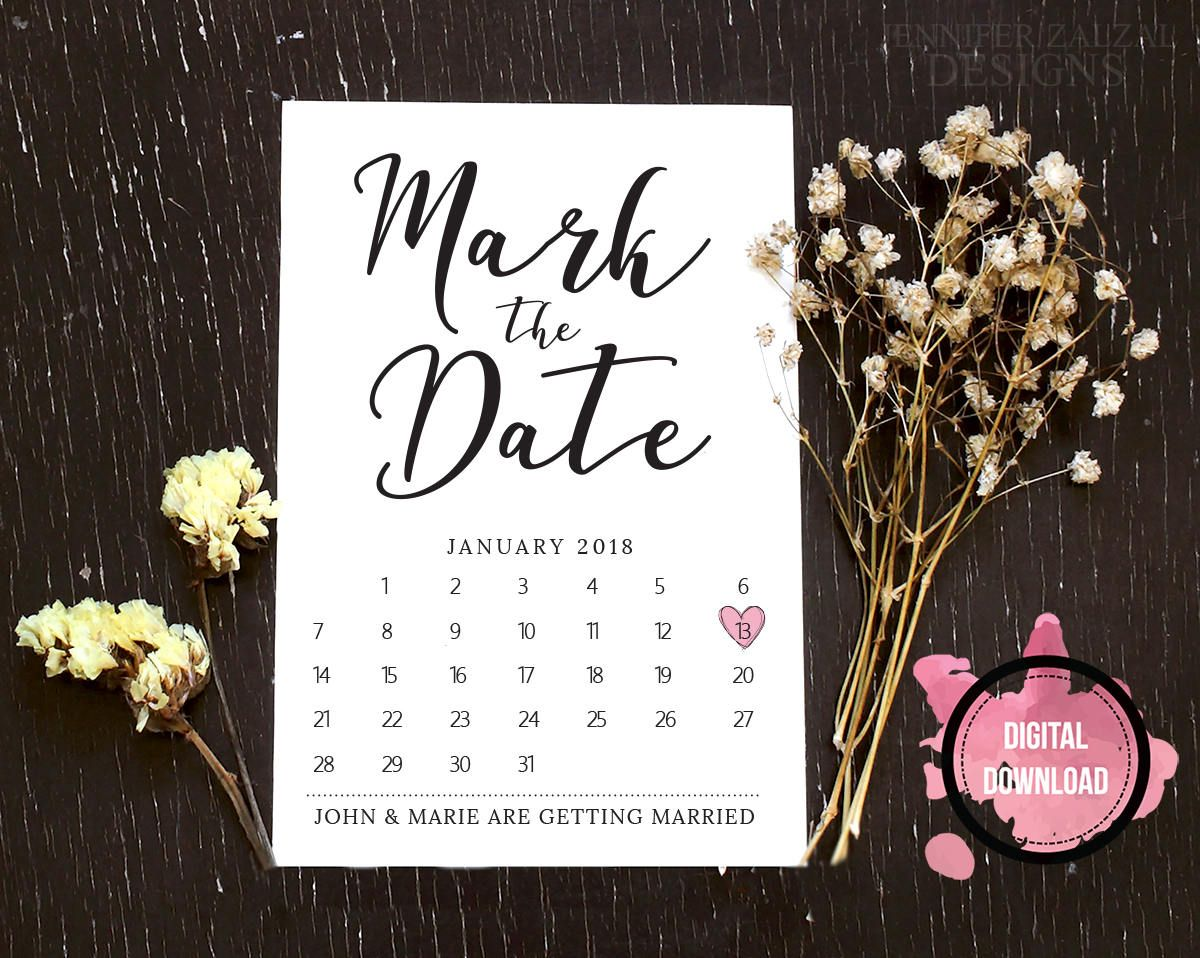 mark the date template download  wedding save the date