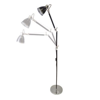 Litecraft Hehuanshan 1 light swing-arm floor lamp in Black- at Debenhams.com