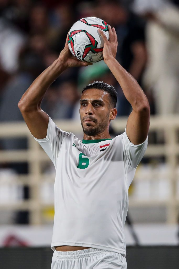 Ali Adnan of Iraq during the AFC Asian Cup round of 16 ...