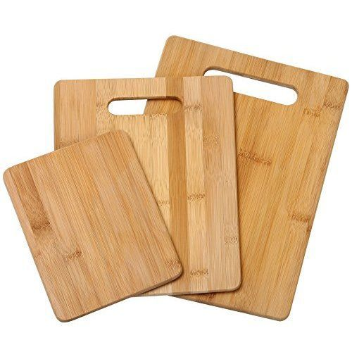 Totally Bamboo 3 Piece Bamboo Cutting Board Set For Meat Veggie