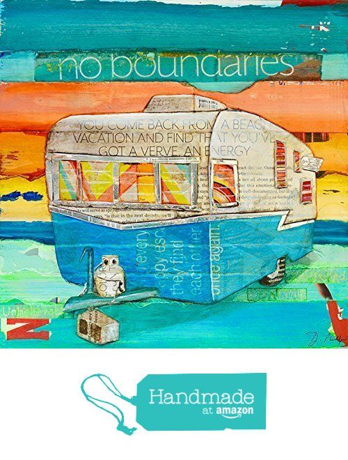 "Vintage Antique Shasta RV Trailer Camper ""No Boundaries"" by Danny Phillips Art Print, UNFRAMED, Beach coastal ocean wall & home decor, Camping Summer gift, All Sizes from Art for the Masses https://www.amazon.com/dp/B01CEXRKK8/ref=hnd_sw_r_pi_dp_-ak7xbG4ENC84 #handmadeatamazon"