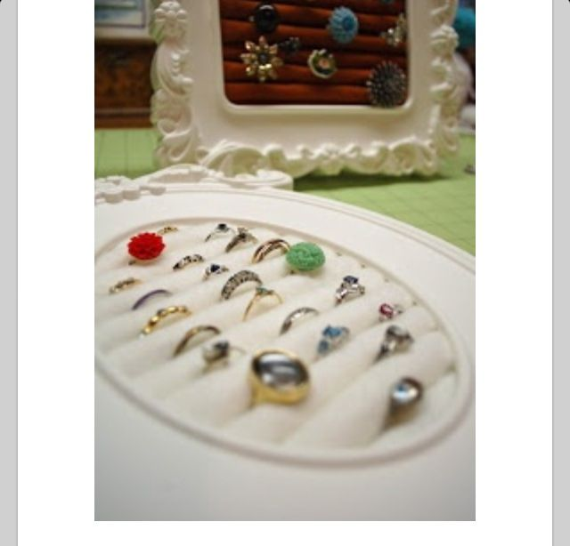 Ring holder in a frame