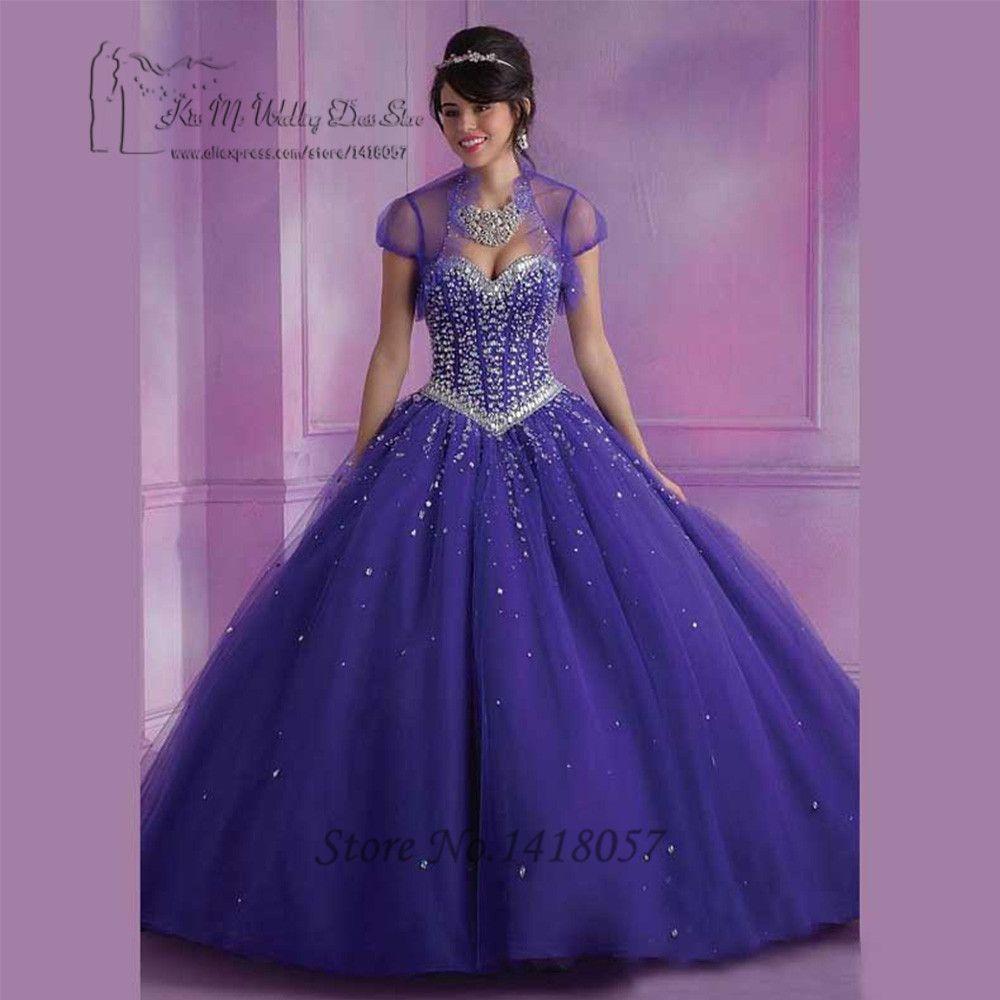 저렴한 Vestidos de 15 anos Luxury Coral Orange Purple Cheap ...