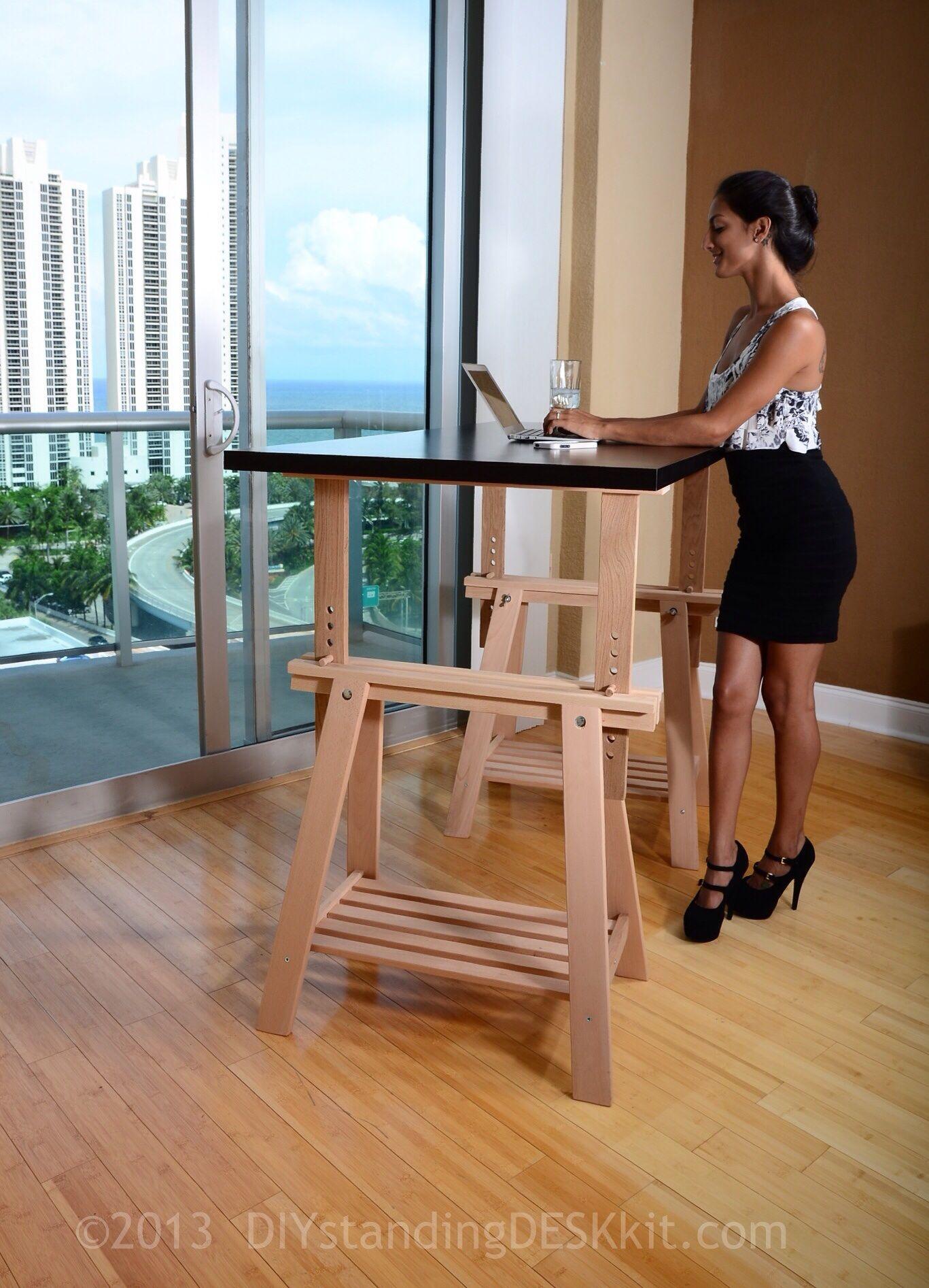 Our Standing Desk Kit In Action Diystandingdeskkit