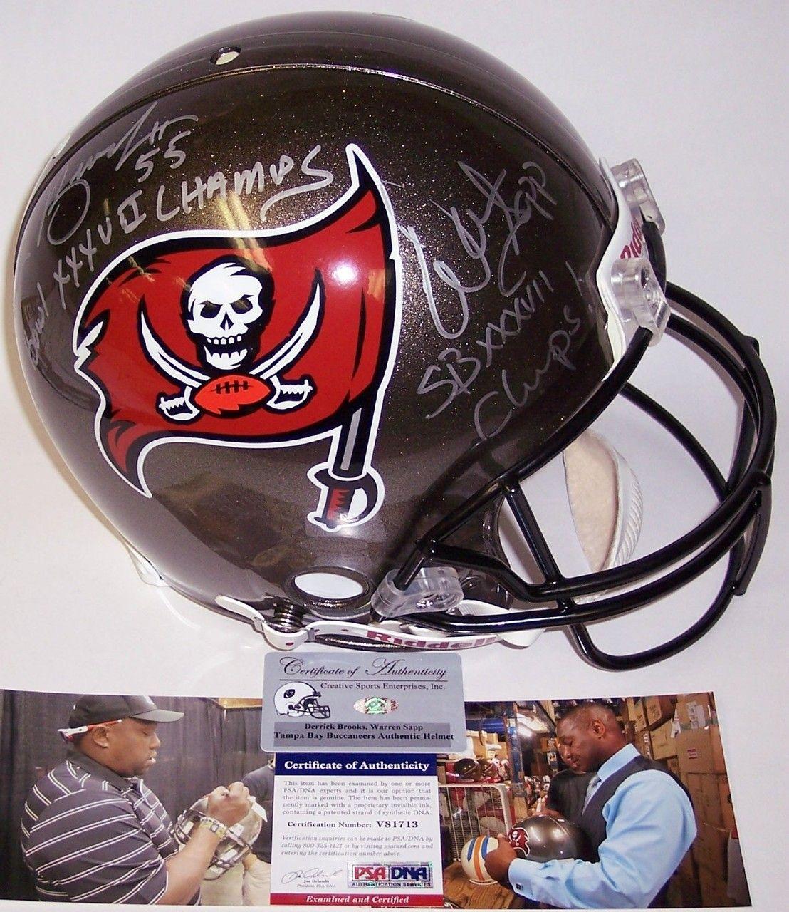 Derrick Brooks and Warren Sapp Autographed Tampa Bay Buccaneers Authentic  Helmet - PSA DNA a6205a014