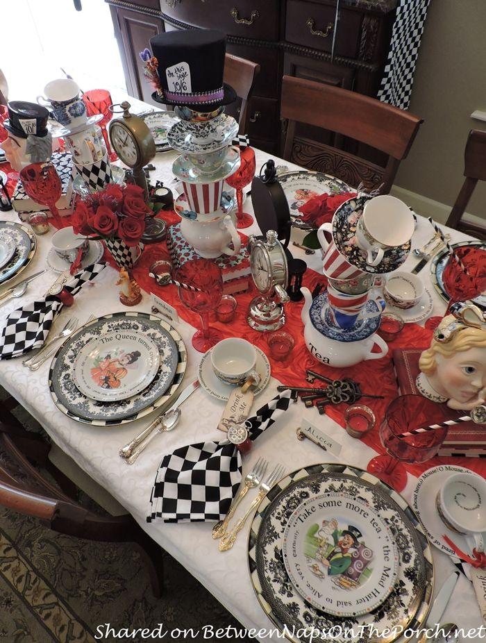 Alice in Wonderland Mad Hatter Dinner Party