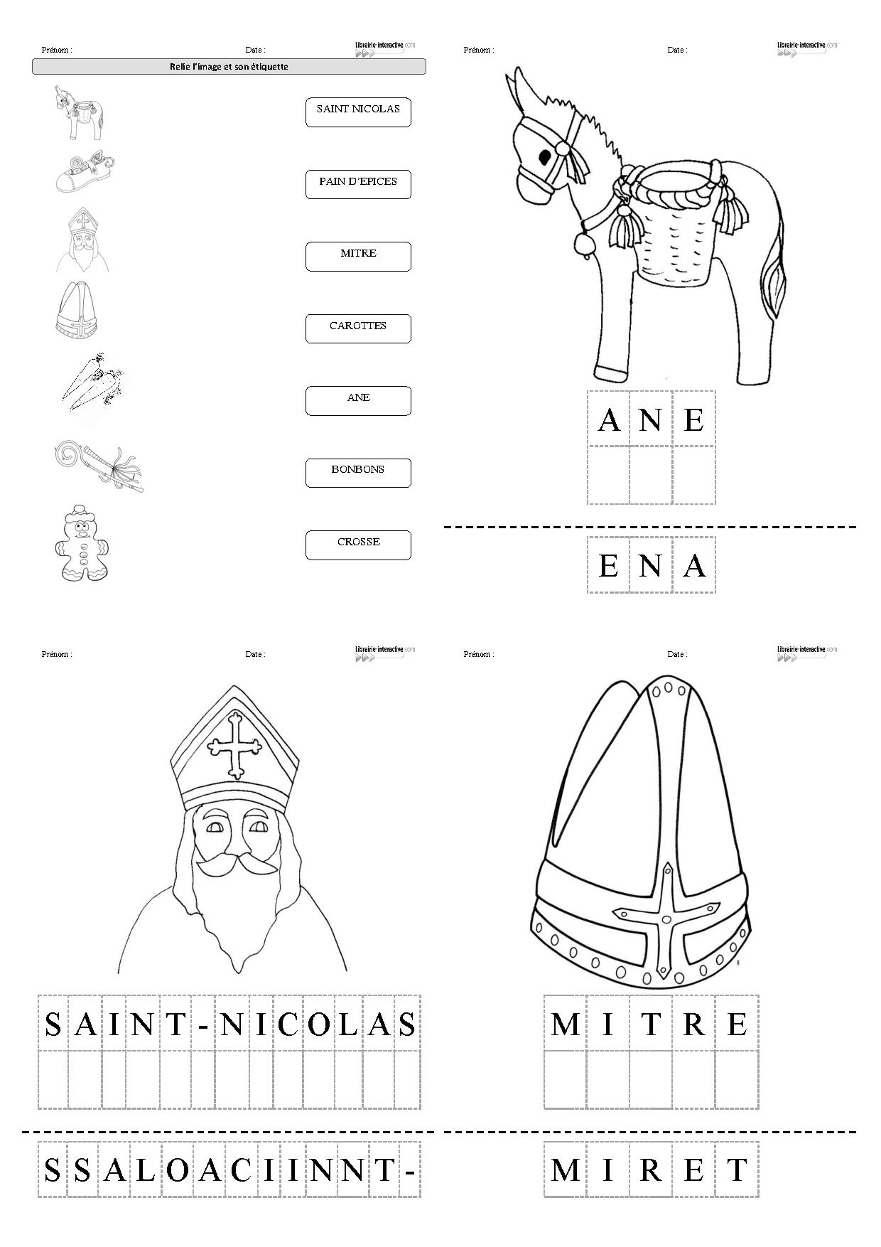 Frais Image à Colorier Saint Nicolas