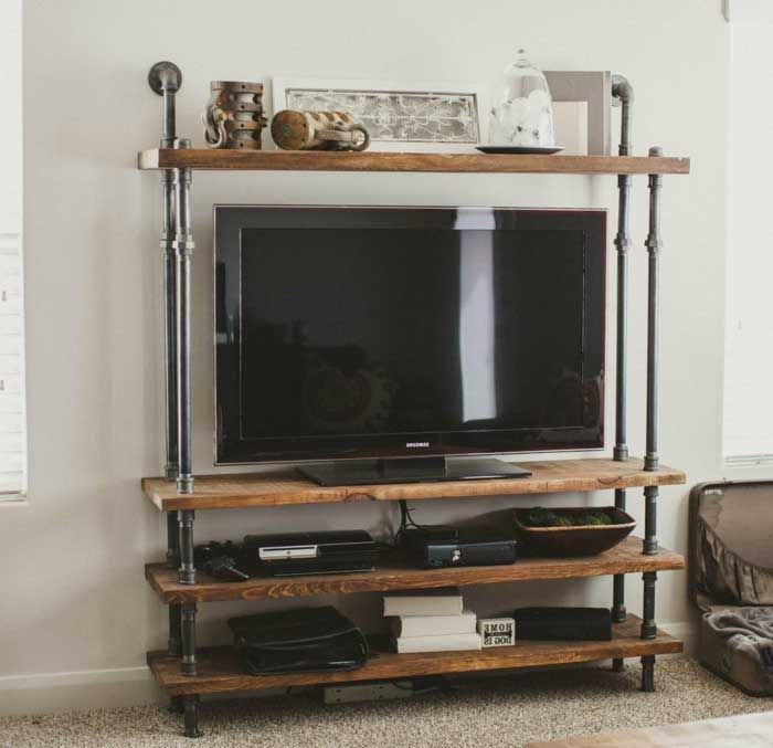 Nice 50+ Creative DIY TV Stand Ideas For Your Room Interior