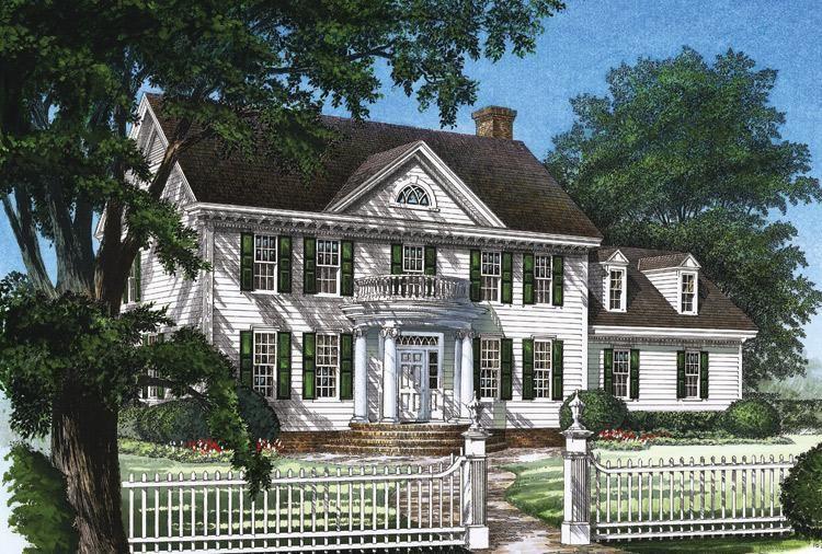 House Plan 7922 00096 Greek Revival Plan 2 214 Square Feet 3 Bedrooms 2 5 Bathrooms Colonial House Colonial House Plans House Plans