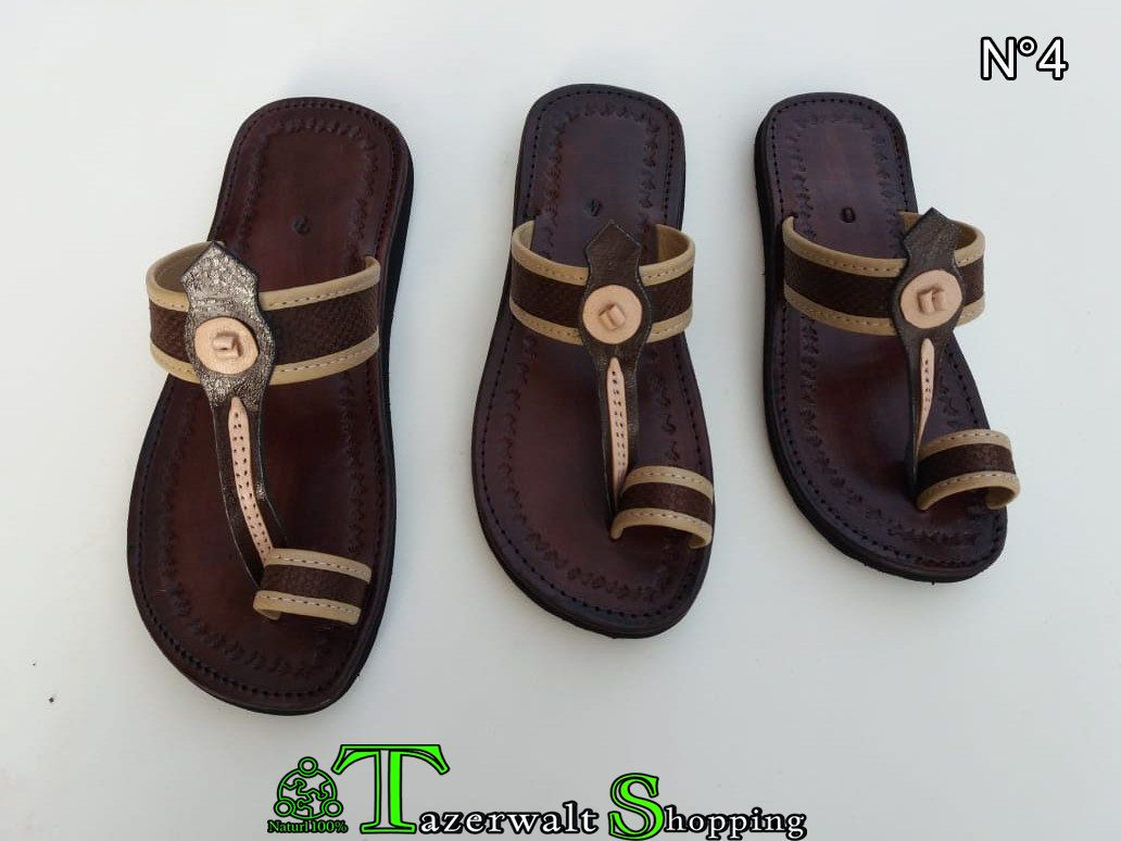 d4d39b75d4ca7 Women's and men's leather sandals, Morocco, sandals, handmade ...