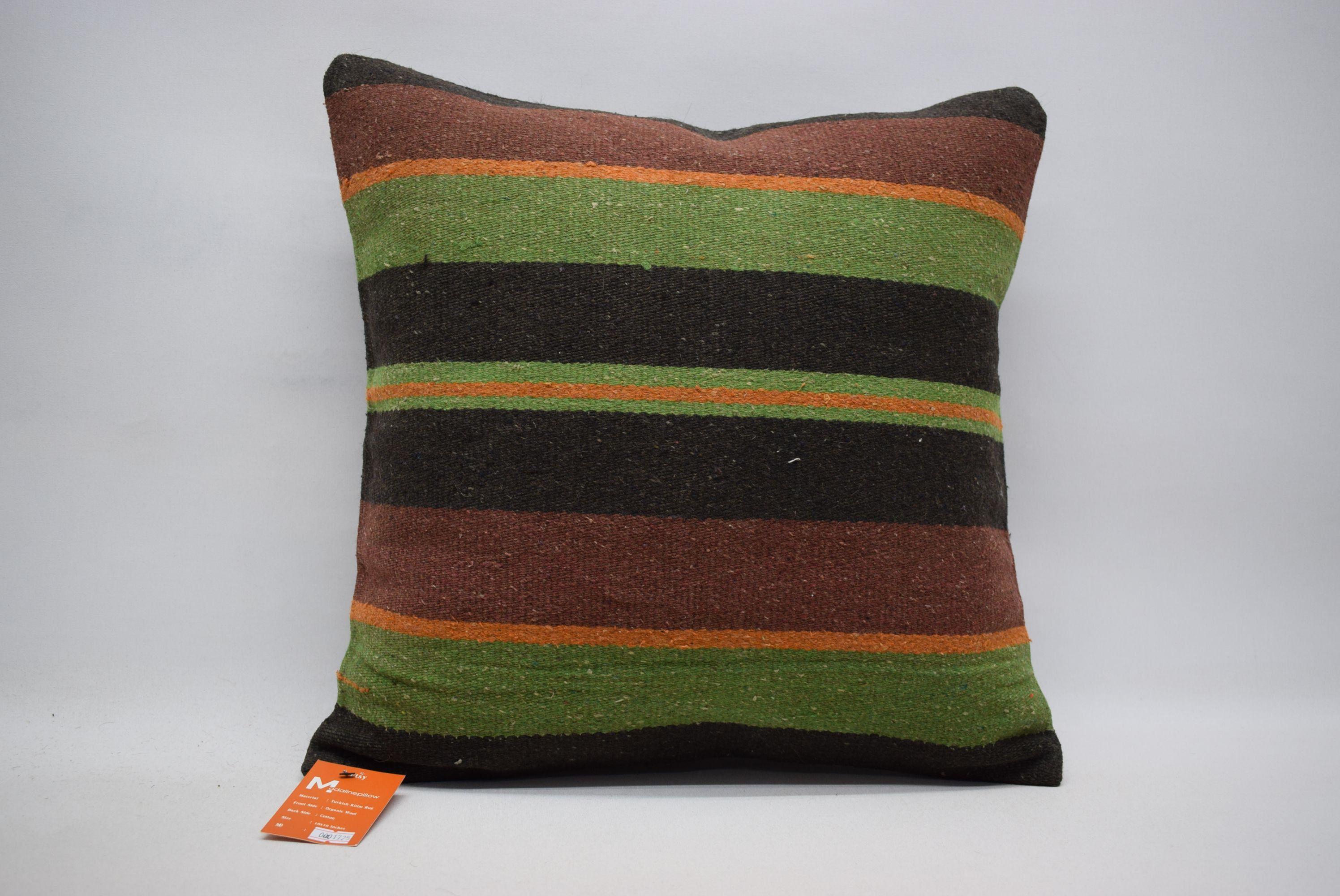 Multicolor pillows / kilim pillow / throw pillow / turkish pillow / bedding pillow 18x18 throw pillow / boho decor / kilim cushions 01725