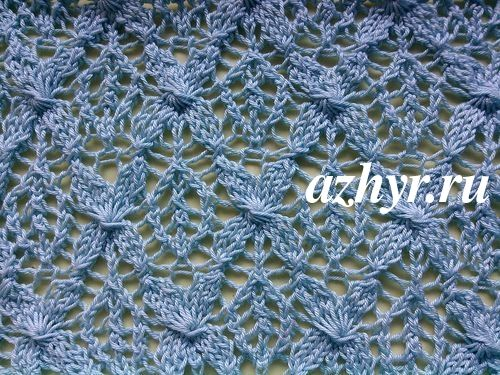 ажурные узоры ромбы для вязания спицами