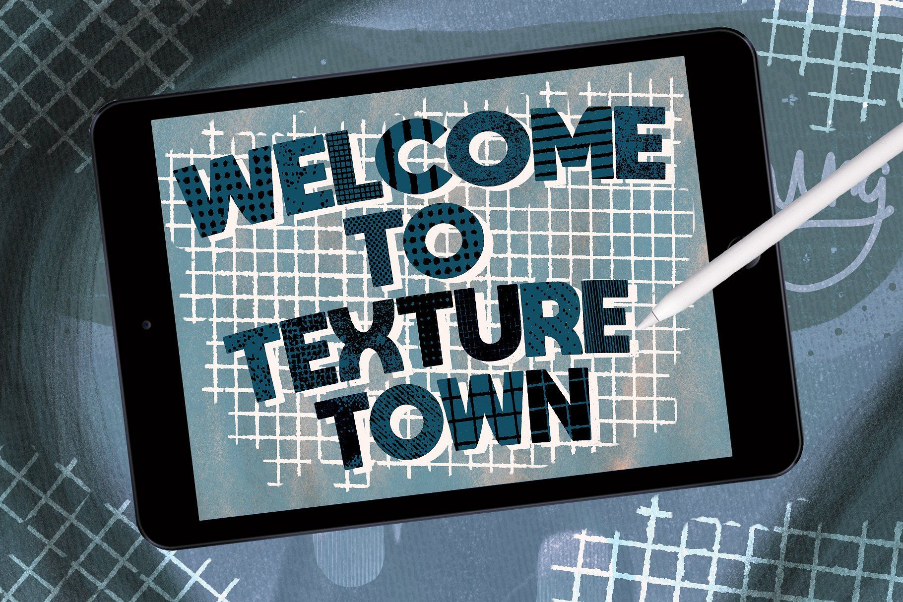 Selection Of 21 Texture Town Brush Set Perfect For Adding