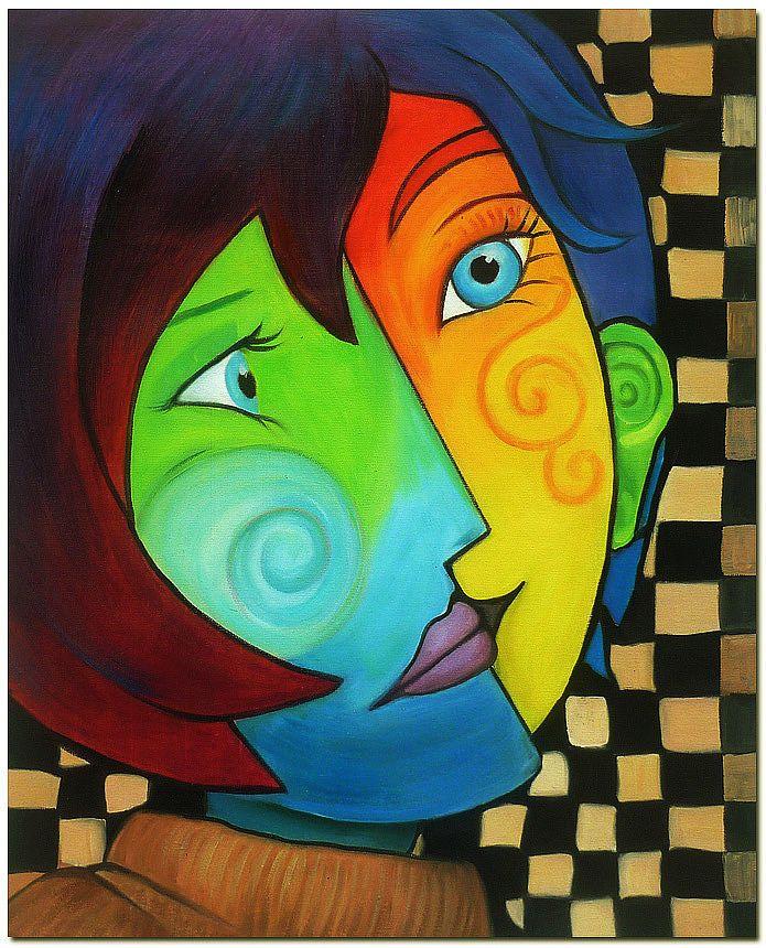 Details About Pablo Picasso Art Hand Painted Cubist