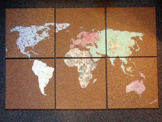Custom handmade cork board map by keysquahscreations on etsy craft custom handmade cork board map by keysquahscreations on etsy gumiabroncs Image collections
