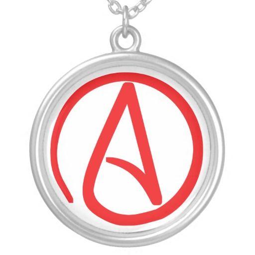 Atheist Symbol Necklace Fashion Necklaces Pinterest Atheist Symbol