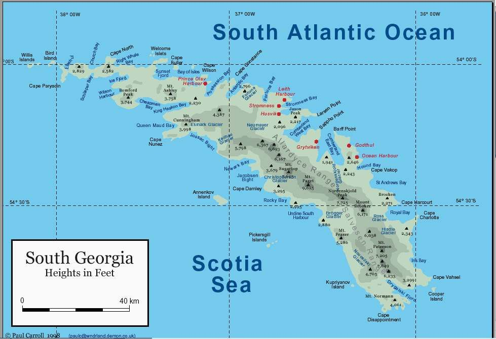 South Georgia and the South <b>Sandwich Islands</b> Map See ...