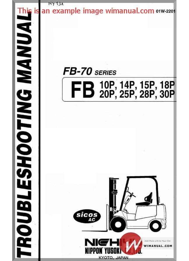 Nichiyu Forklift Fb10 30p Ac Serie 70 Troubleshooting Manual