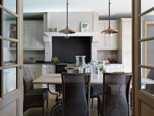 Cuisine  style maison de campagne en bois Plan de travail - Magasin De Meubles Plan De Campagne