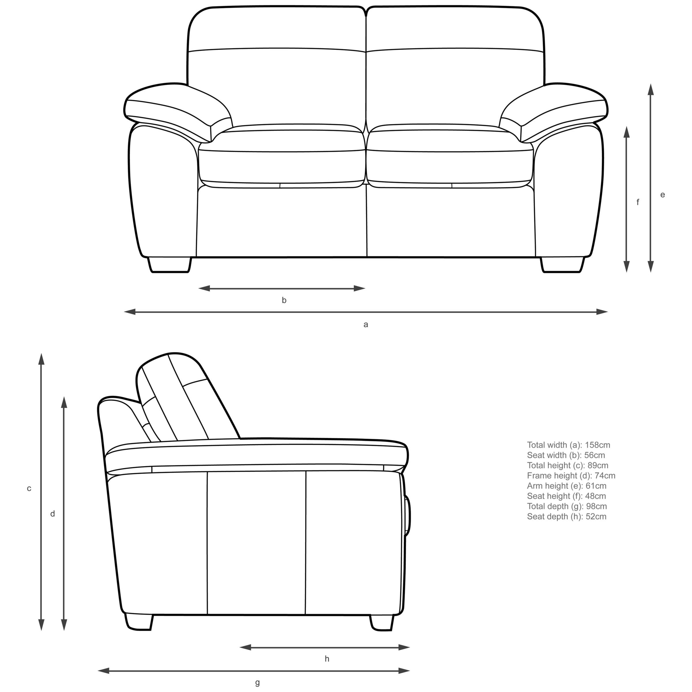 Awe Inspiring John Lewis Partners Camden Small 2 Seater Leather Sofa Forskolin Free Trial Chair Design Images Forskolin Free Trialorg