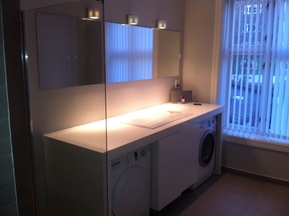 All-In-One Multipurpose Bathroom Furniture which hides a washer & dryer - IKEA Hackers