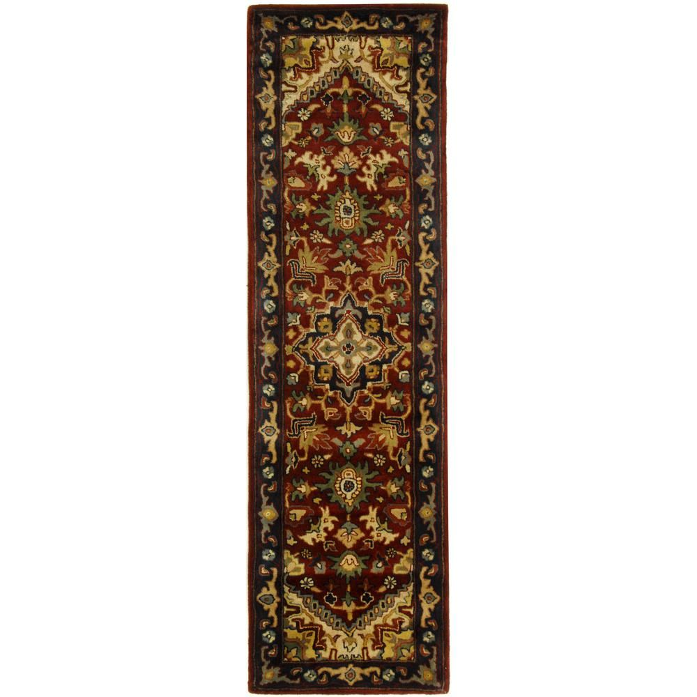 Safavieh Classic Assorted Red 2 Ft X 8 Ft Runner Rug Cl225a 28 The Home Depot Red Rugs Oriental Wool Rugs Wool Runner Rug