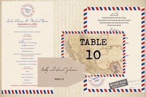 Vintage Air Mail (Ceremony and Reception Wedding Stationery Suite)