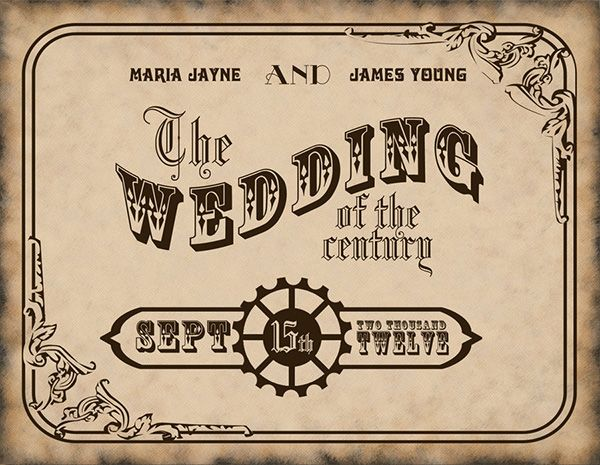 Victoriana Wedding Invitation  Free Wedding Invitation Templates