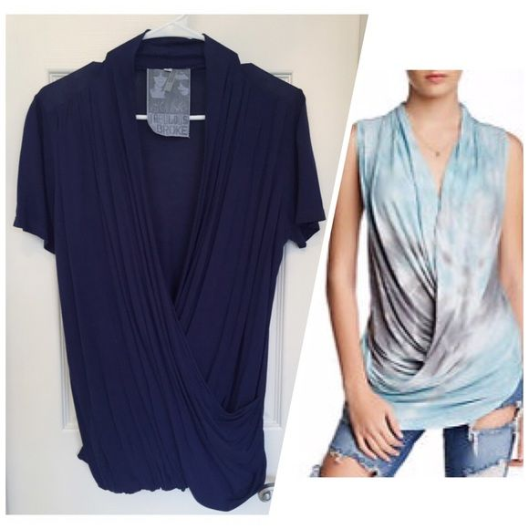Young Fabulous & Broke Draped Short Sleeve Top Young Fabulous & Broke Draped Short Sleeve Top, Blue, Size S, excellent like new condition  Young Fabulous & Broke Tops