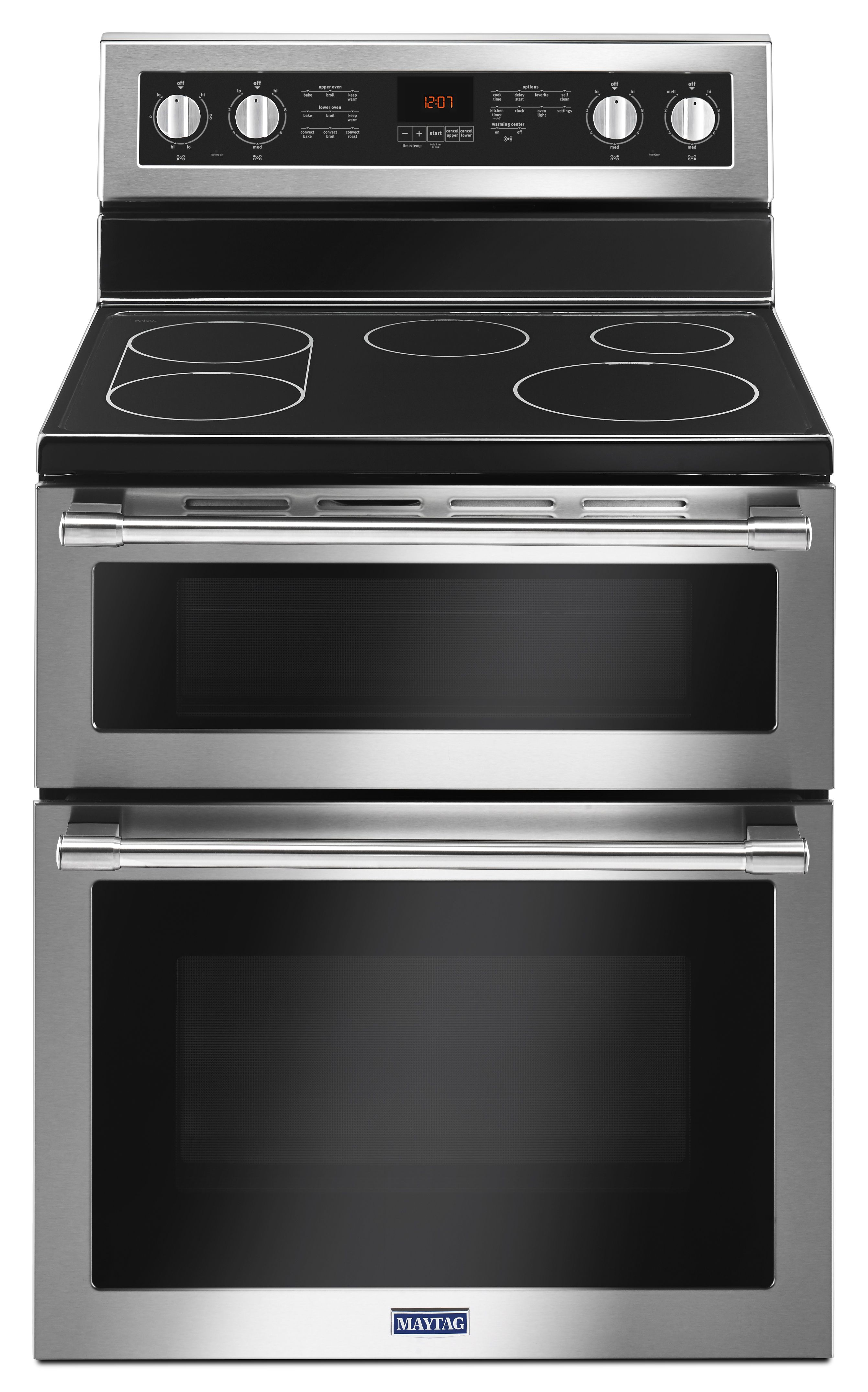 Maytag MET8800FZ Double Oven Range with True Convection - Built to ...