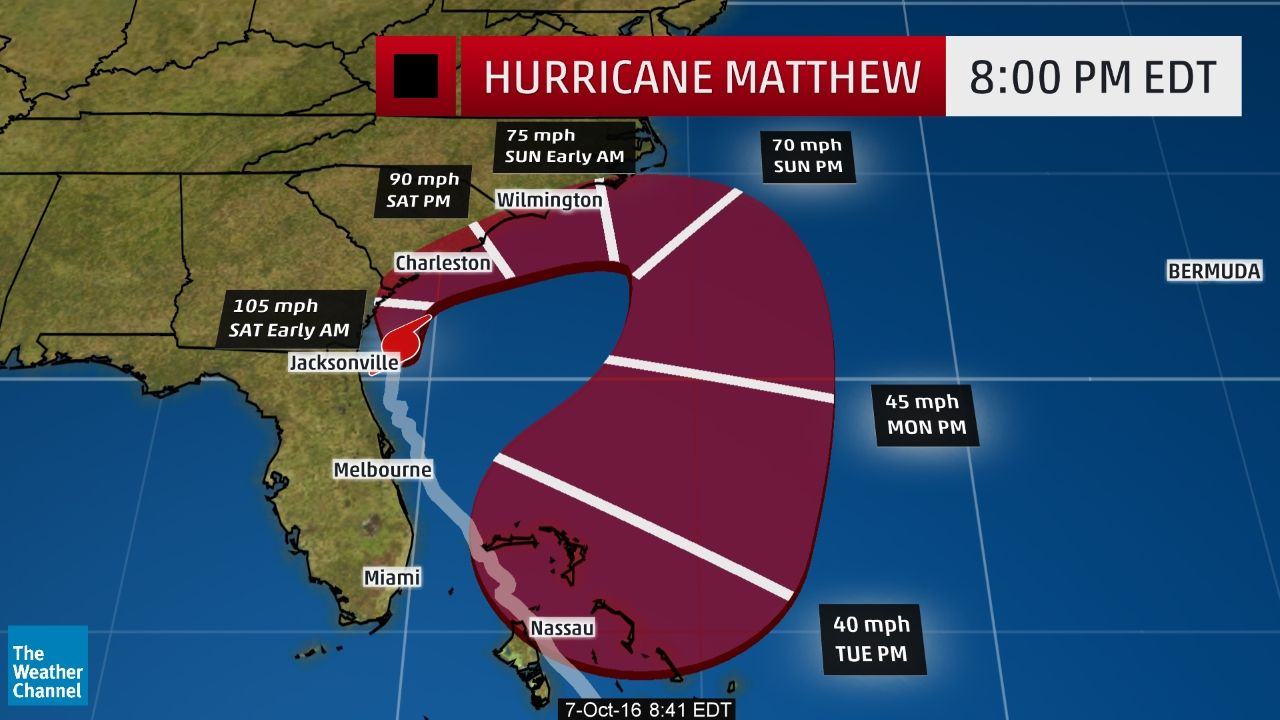 Hurricane Matthew Recap Destruction From The Caribbean To The United States The Weather Channel The Weather Channel Nc Weather Interactive Weather Map