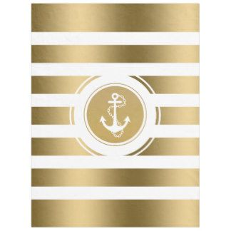 Gold Anchor Fleece Blankets