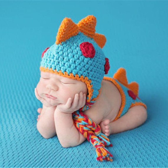 430017eba5c1 Crochet Baby outfit, Dinosaurs costume,Baby Girls/boys Crochet Knit Costume,Photo  Photography Outfit