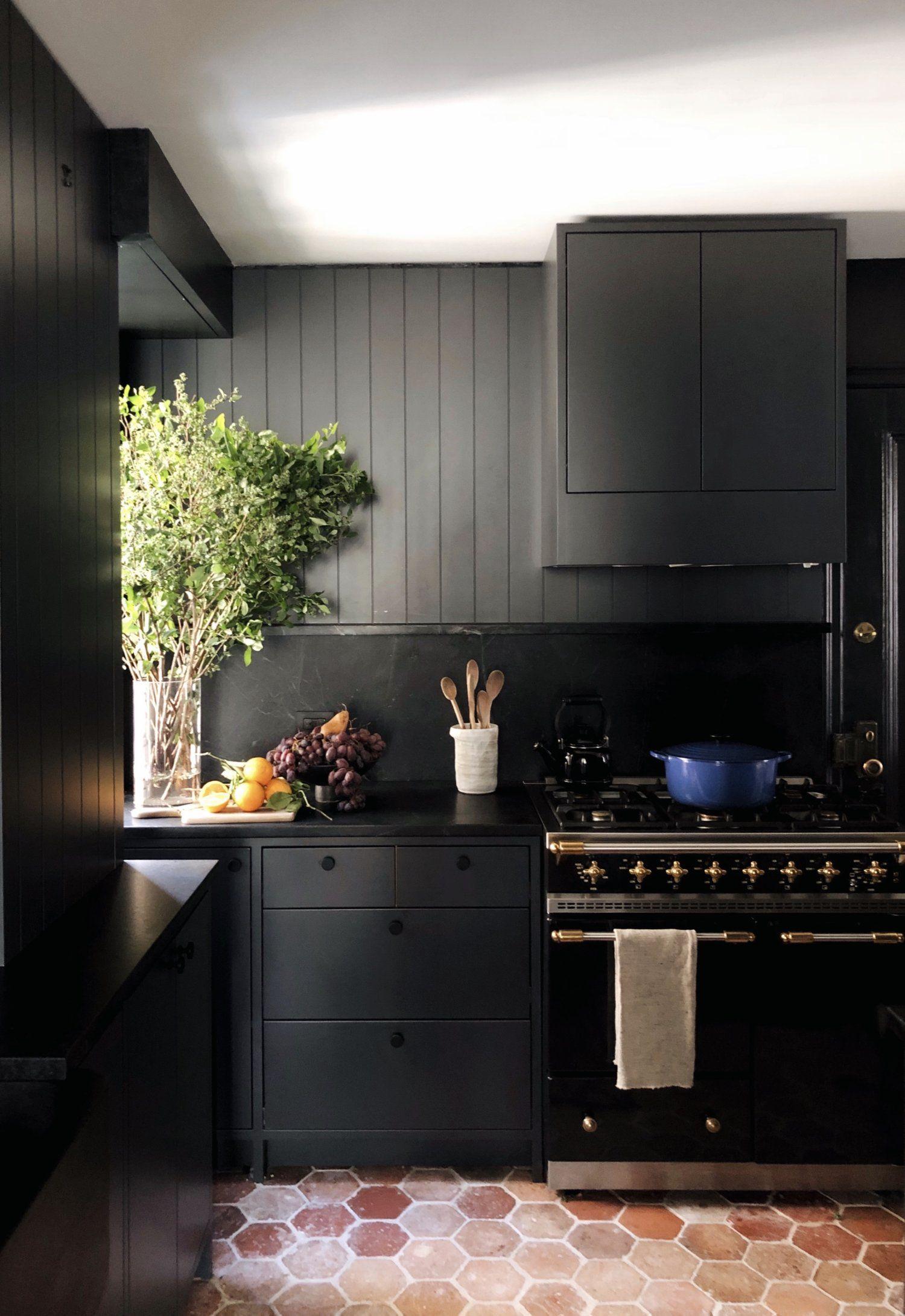Colin King Interiors Dark Dramatic Kitchen Contemporary Kitchen Popular Kitchen Designs Black Kitchen Cabinets