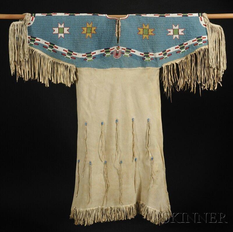 Lakota Beaded Hide Woman's Dress