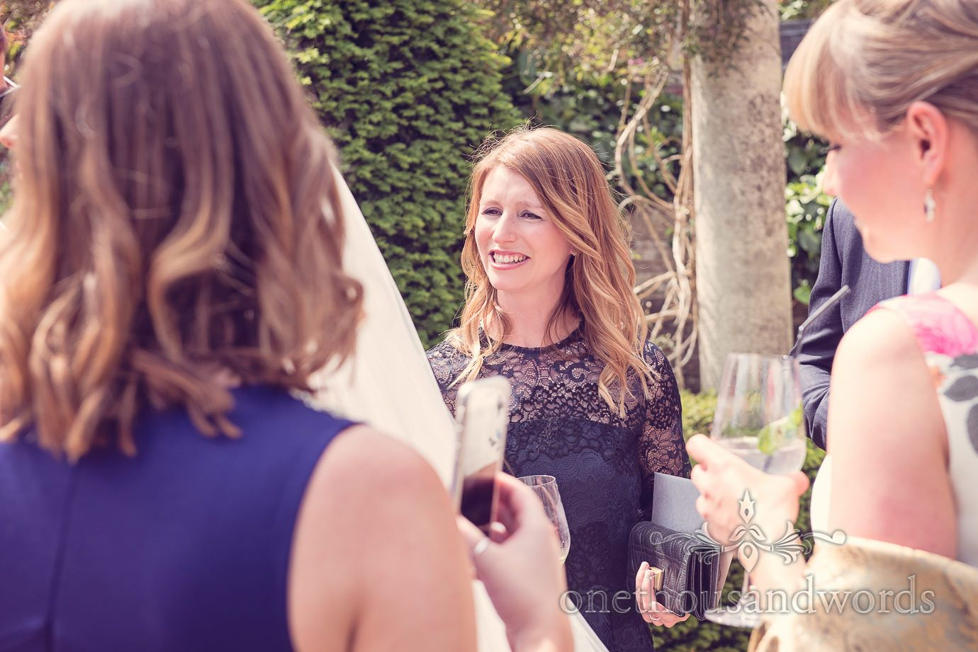 Wedding guest at Italian Villa Wedding Photographs.Photography by one thousand words wedding photographers