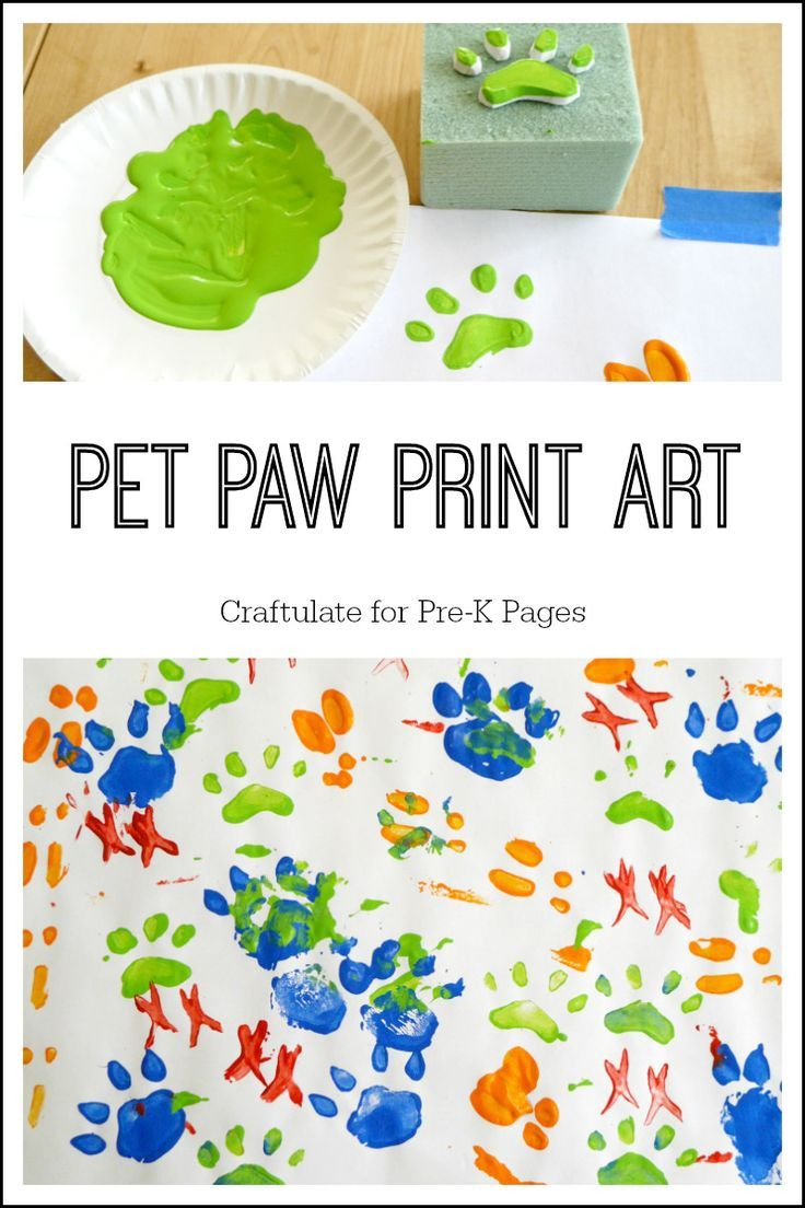 Pet Paw Print Art | Art Activities | Paw print art, Pet paws