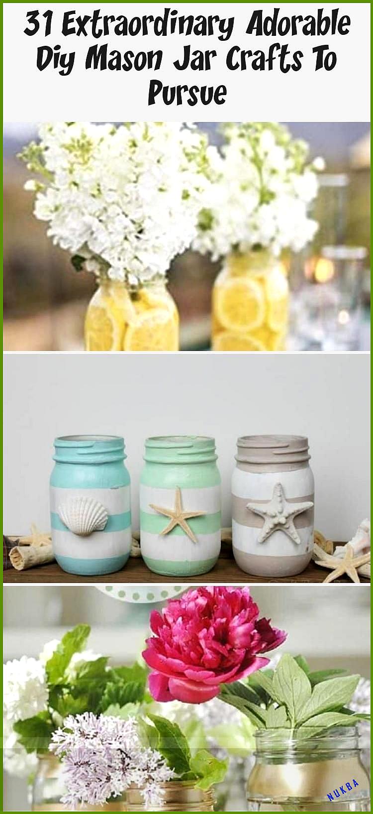 31 Extraordinary Adorable Diy Mason Jar Crafts To Pursue - CUISINE, #adorable #Crafts #CUISINE #DIY #Extraordinary #Jar #Mason #Pursue
