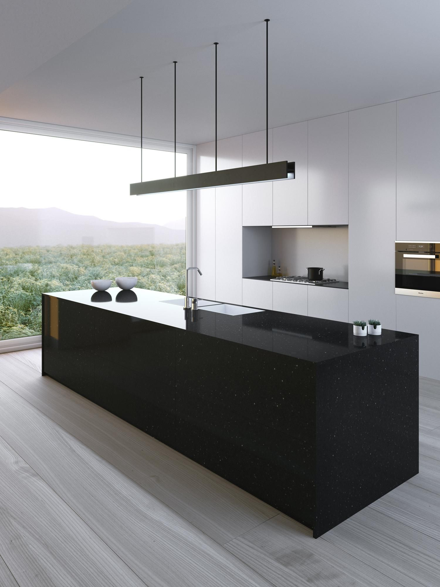 Minimalist Kitchen Island Decor