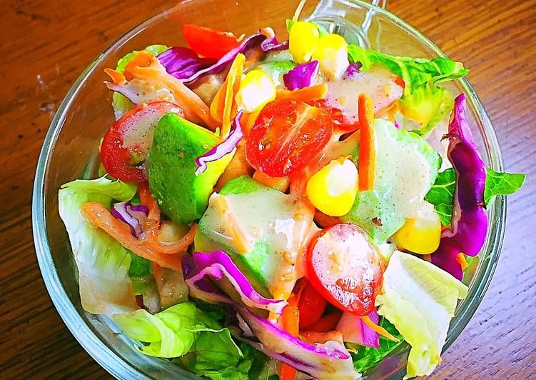Resep Avocado Salad Dengan Tahini Toum Sauce Oleh Ratna Resep Salad Alpukat Tahini Masakan