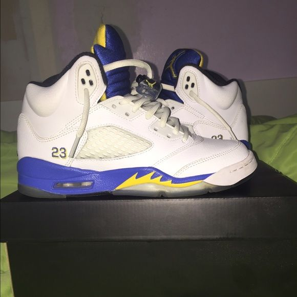 newest af8f7 c12c5 Air Jordan 5 Retro Laneys size 5y Laney 5s size 5. slightly worn with  little creasing. comes with original box Jordan Shoes Sneakers