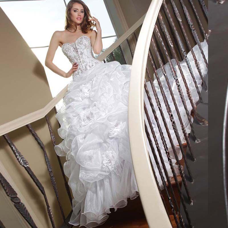 Luxurious Bling Sweetheart Wedding dresses Zipper Back Bridal Ball ...