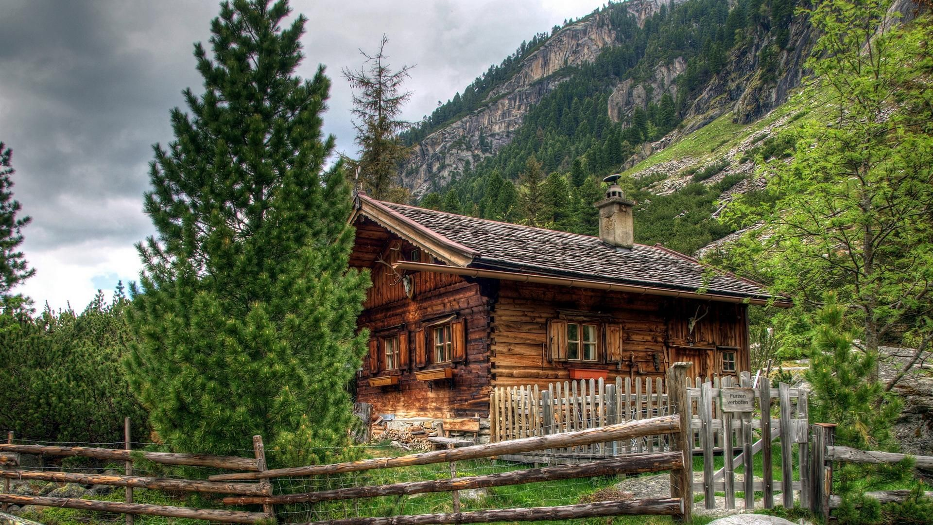 Beautiful Log Cabin In The Austrian Alps Cabins