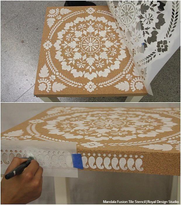 Attractive Easy DIY Ikea Hack: How To Decorate Cork Furniture Stencils Tutorial Amazing Ideas