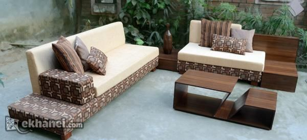 L Shaped Wood Sofa In Bangladesh Wood Sofa Outdoor Furniture Sets Modern Living Room