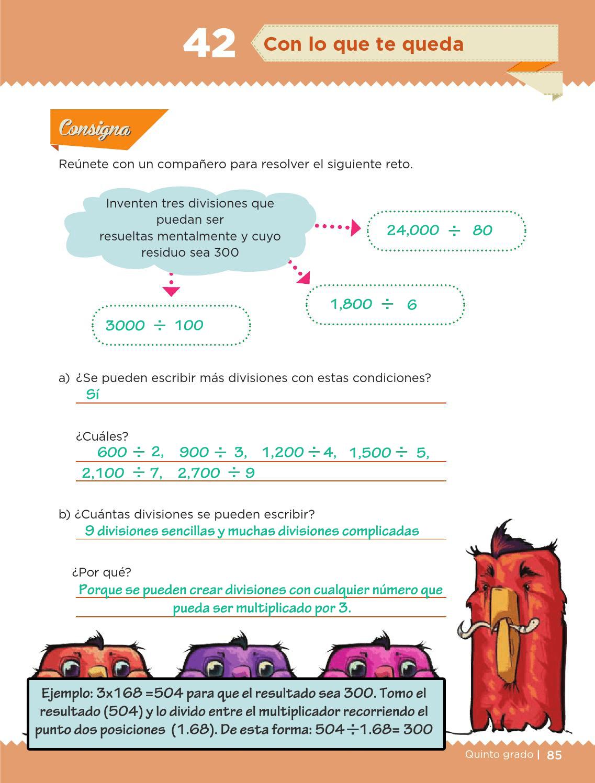 Ayuda para tu tarea de Quinto Desafíos matemáticos Bloque