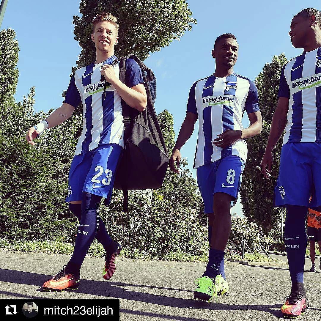 #Repost @mitch23elijah  First day back at the office! Hard work ahead of us! @herthabsc #23 #StriveForGreatness